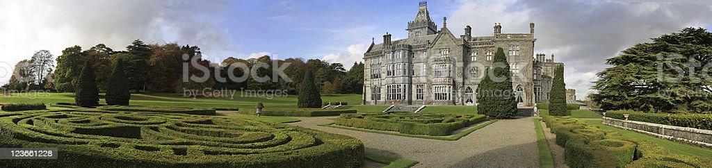 Adare castle panoramic stock photo