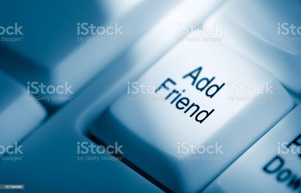 Add friend royalty-free stock photo