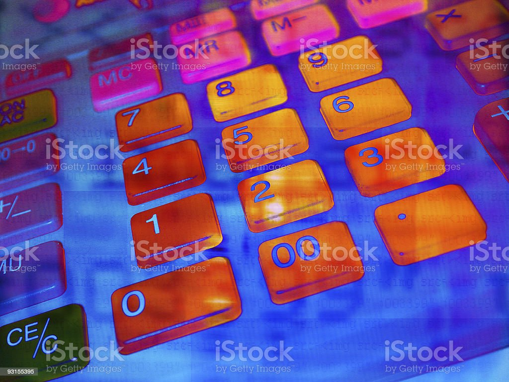 Add it up royalty-free stock photo