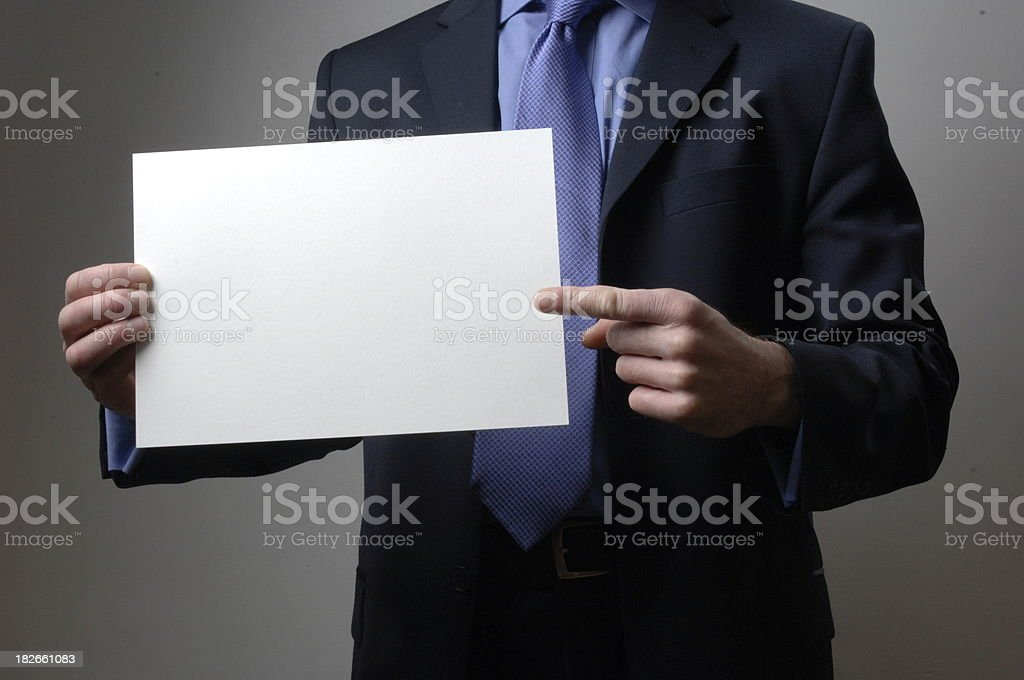 Add Text to Business Notice royalty-free stock photo