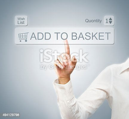 istock Add to basket / touch screen concept (Click for more) 494129798