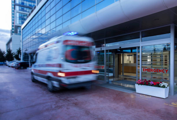 Add to Board  Speeding ambulance,(blurred motion) stock photo