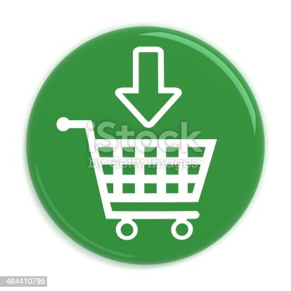 istock Add to cart button with shopping cart 464410795