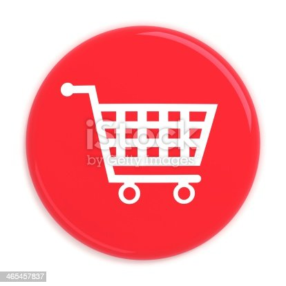 istock Add to cart button with shopping cart 465457837