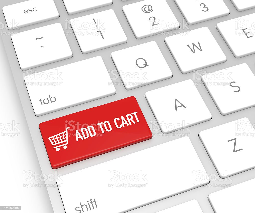 Add to Cart Computer Key stock photo