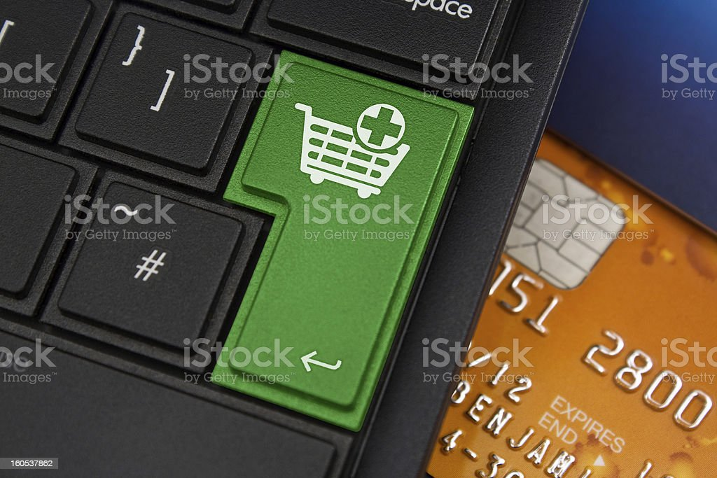 add to cart Enter Key royalty-free stock photo