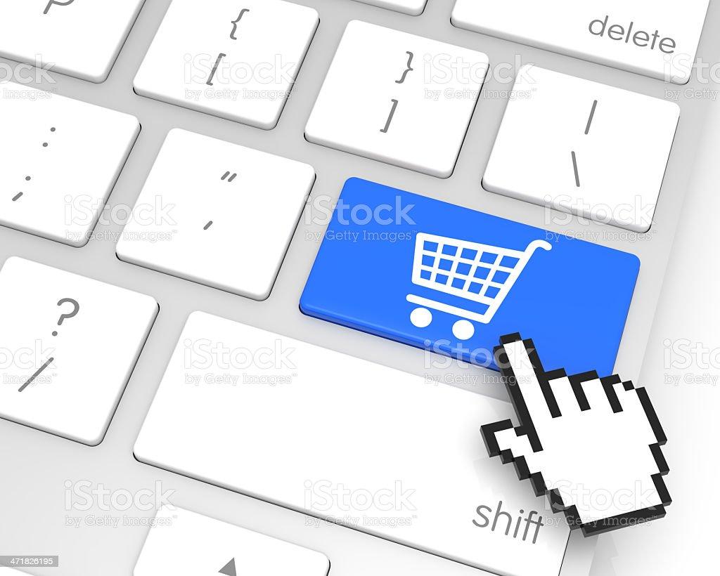 Add to Cart Enter Key royalty-free stock photo
