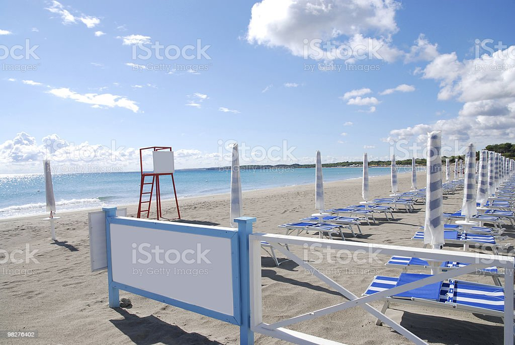add your text to this blank billboard on beach royalty-free stock photo