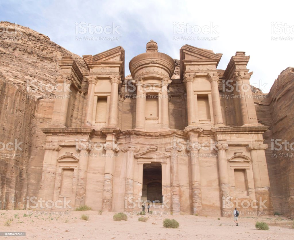 Ad-Dayr ( The Monastery ) in ancient Petra, Jordan stock photo