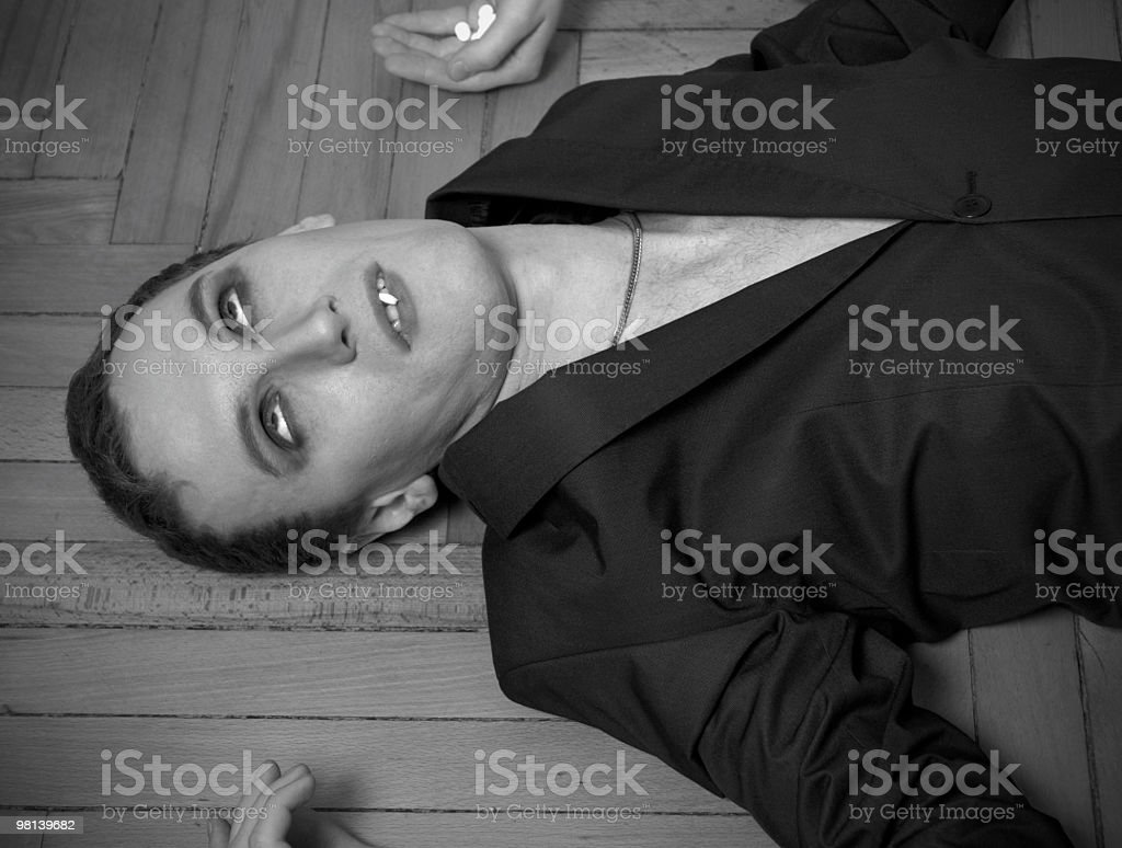 addict has a medical attack royalty-free stock photo