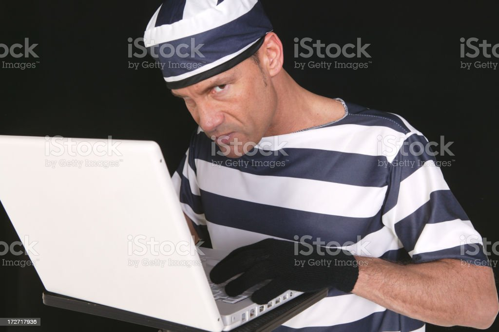addicted to computer or hacker royalty-free stock photo