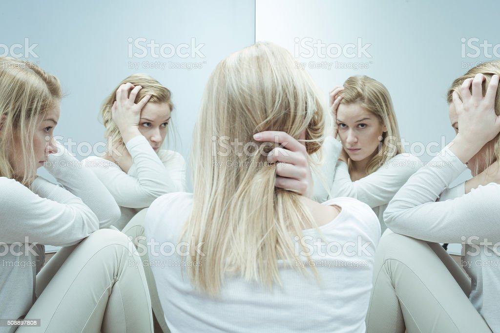 Addicted to drugs stock photo