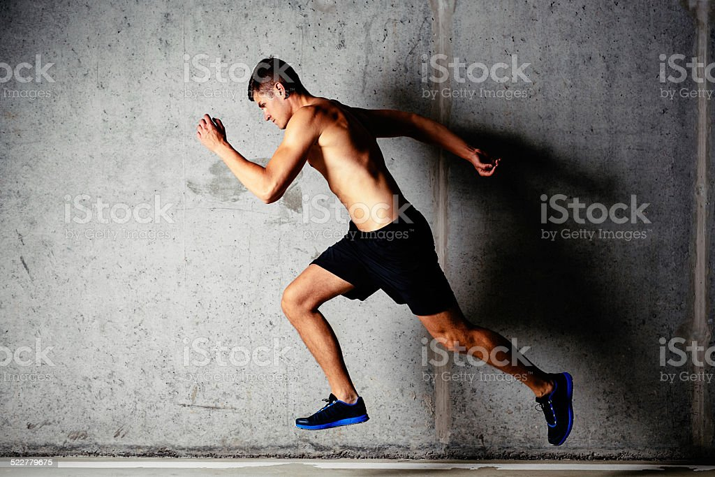 Addicted to running stock photo