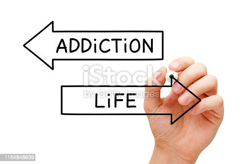 istock Addiction Or Life Choice Arrows Concept 1154848639