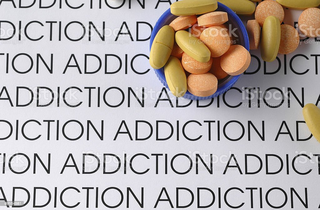 Addiction to Pills royalty-free stock photo