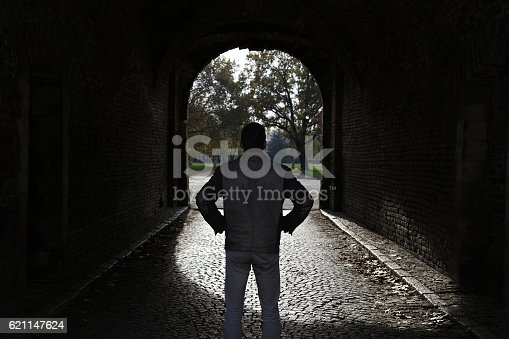 istock Addiction way out, light at the end of the tunnel 621147624