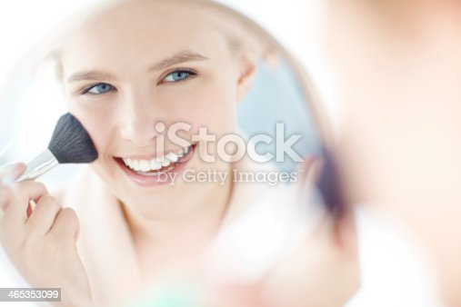 istock Adding a blush to her cheeks 465353099