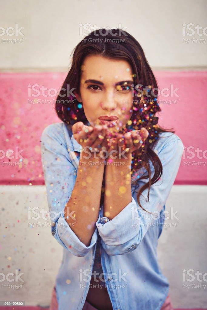 Adding colour to your life stock photo