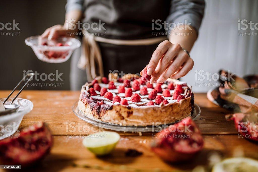 Ahududu zevkli Blackberry pasta için ekleme - Royalty-free Ahududu Stok görsel