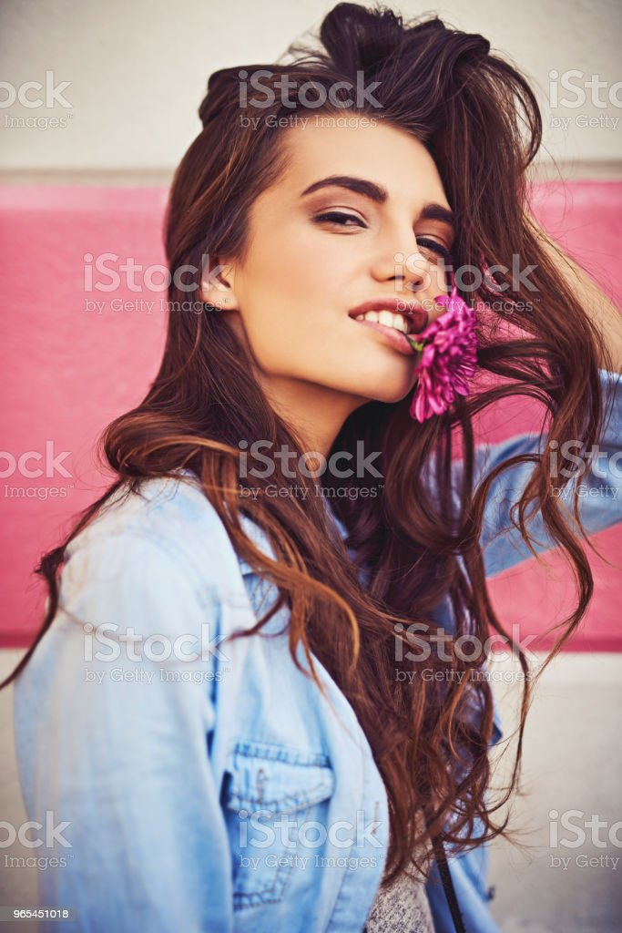 Adding some flower power in the city royalty-free stock photo