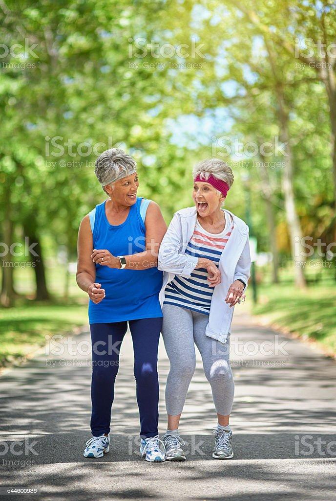 Adding the fun factor to their workout stock photo