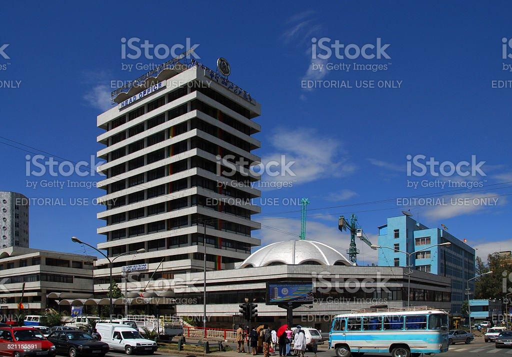 Addis Ababa, Ethiopia: downtown - business district stock photo