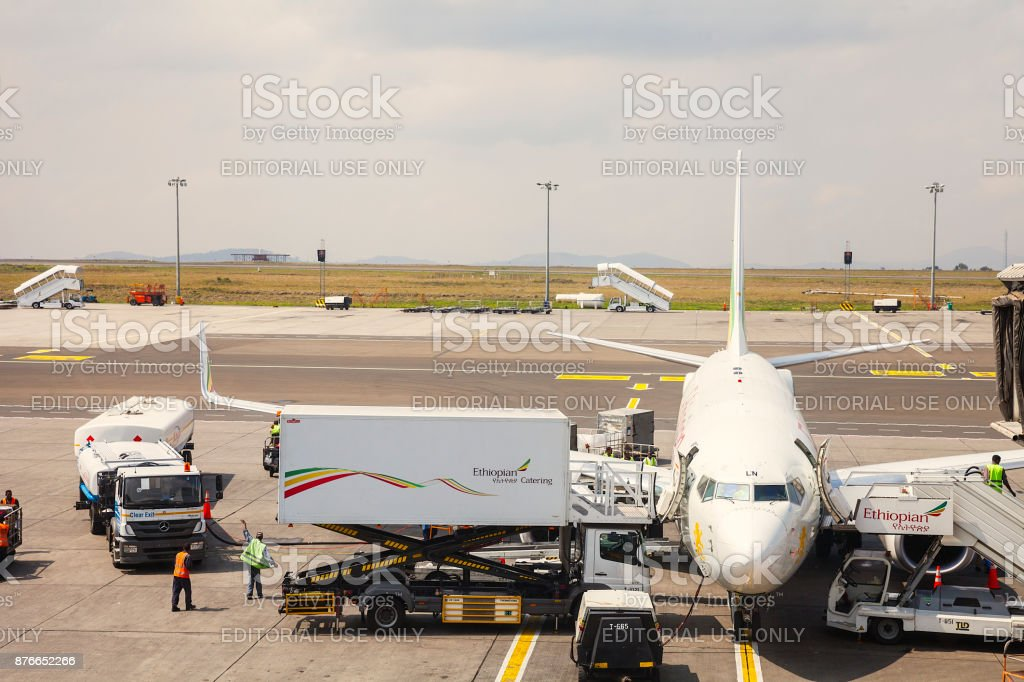 Addis Ababa International Airport, Ethiopia stock photo