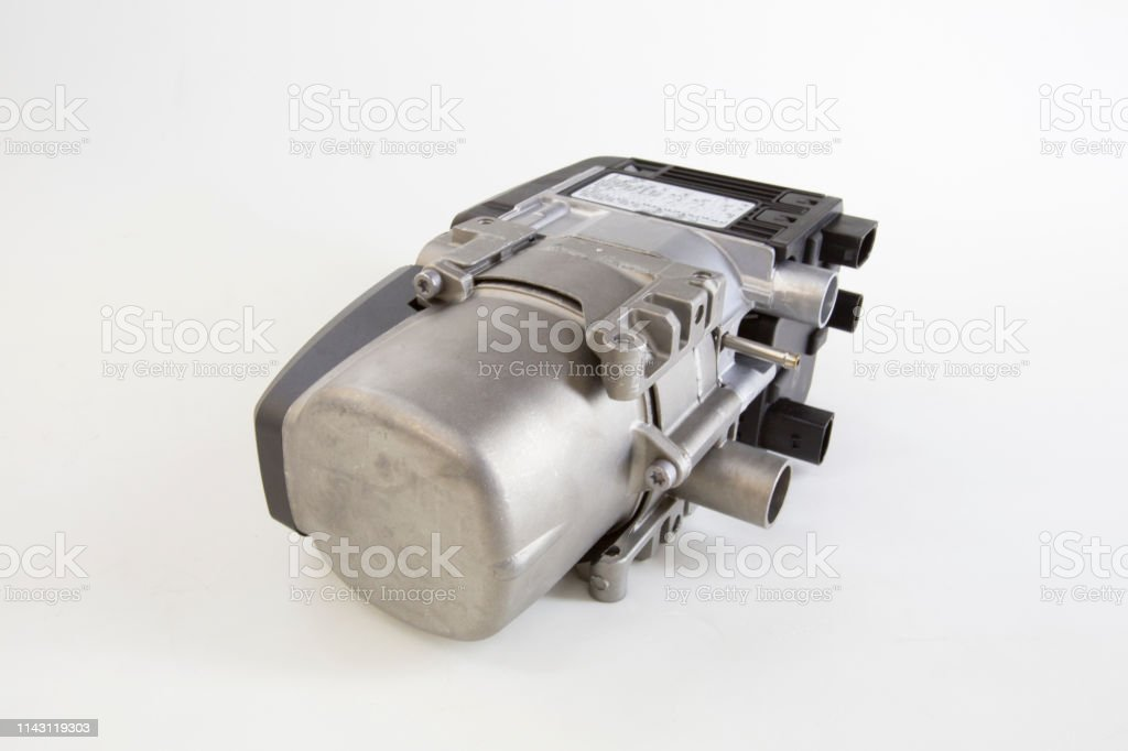 Additional Auxiliary Heater Of The Car Stock Photo