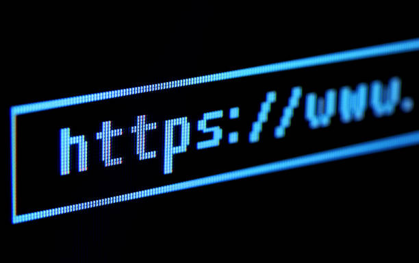 Address bar on computer display closeup Address bar on computer display closeup. hyperlink stock pictures, royalty-free photos & images