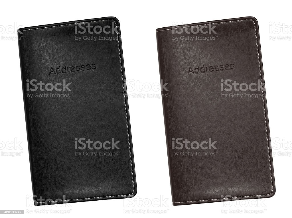 Address Book leather bound stock photo