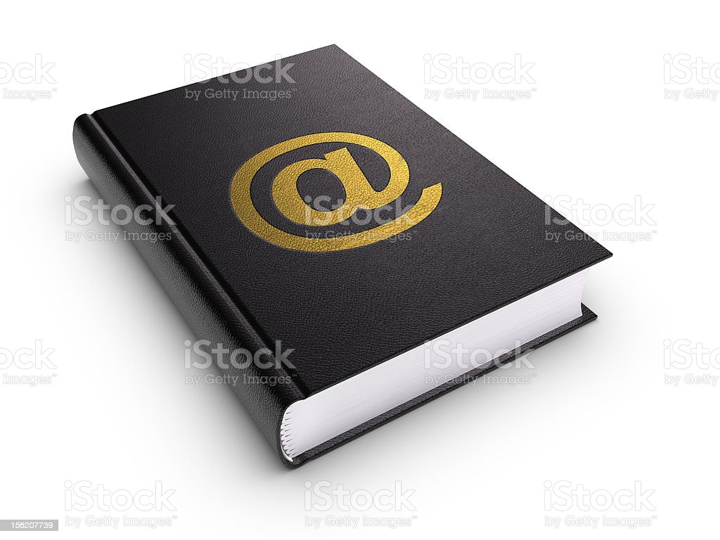 Address book (isolated) royalty-free stock photo