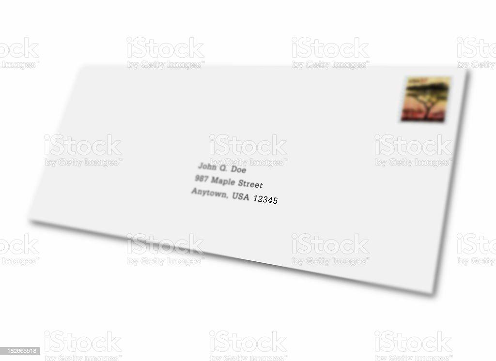 Addressed Envelope royalty-free stock photo
