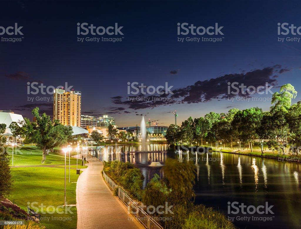 Adelaide at dusk stock photo