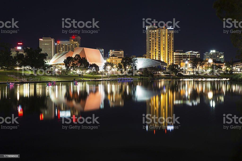 Adelaide at night stock photo