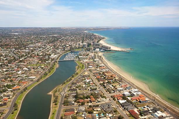 Adelaide Strand aus der Luft – Foto
