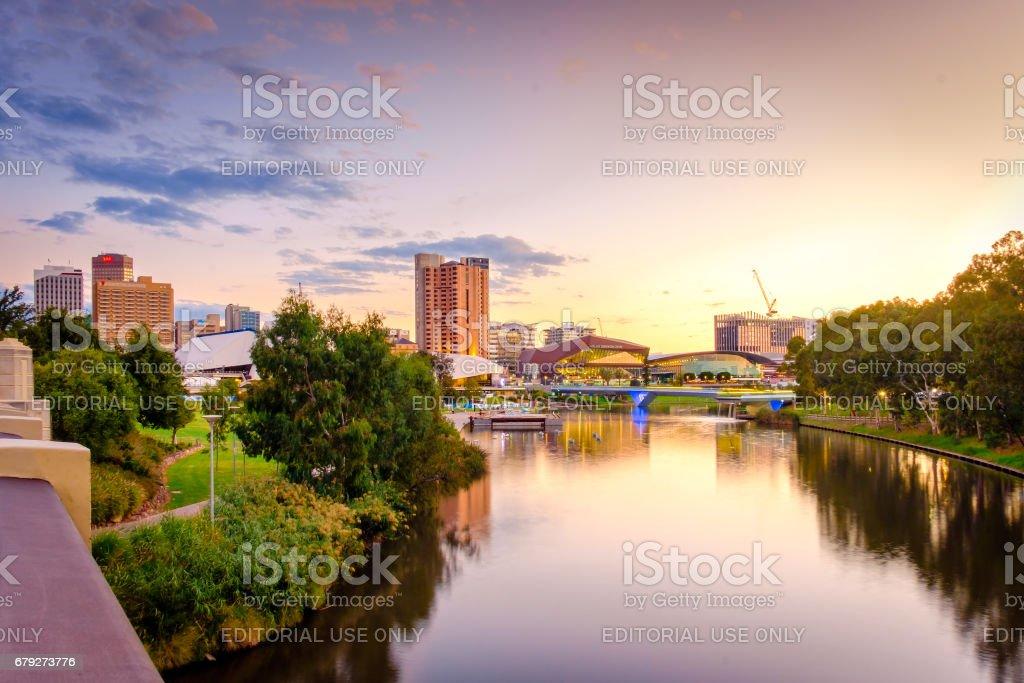 Adelaide city Australia stock photo