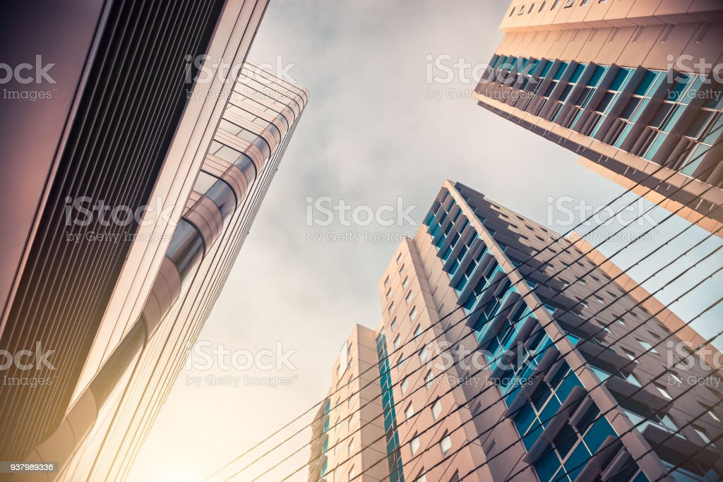 Adelaide city office buildings stock photo