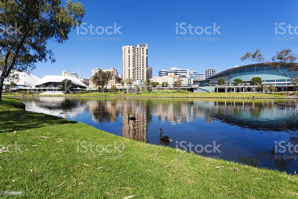 Adelaide city stock photo