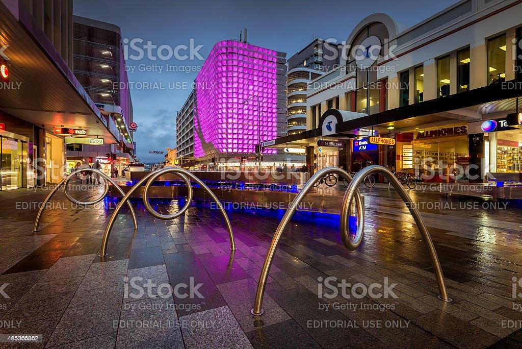 Adelaide city, Rundle Mall, Rundle Lantern lights stock photo