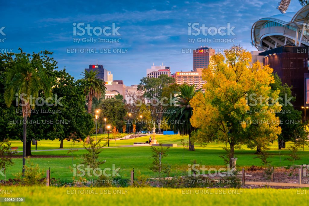 Adelaide city skyline stock photo