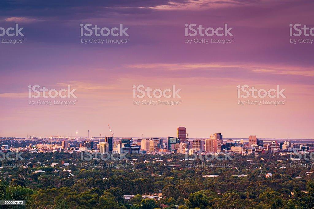 Adelaide city view stock photo