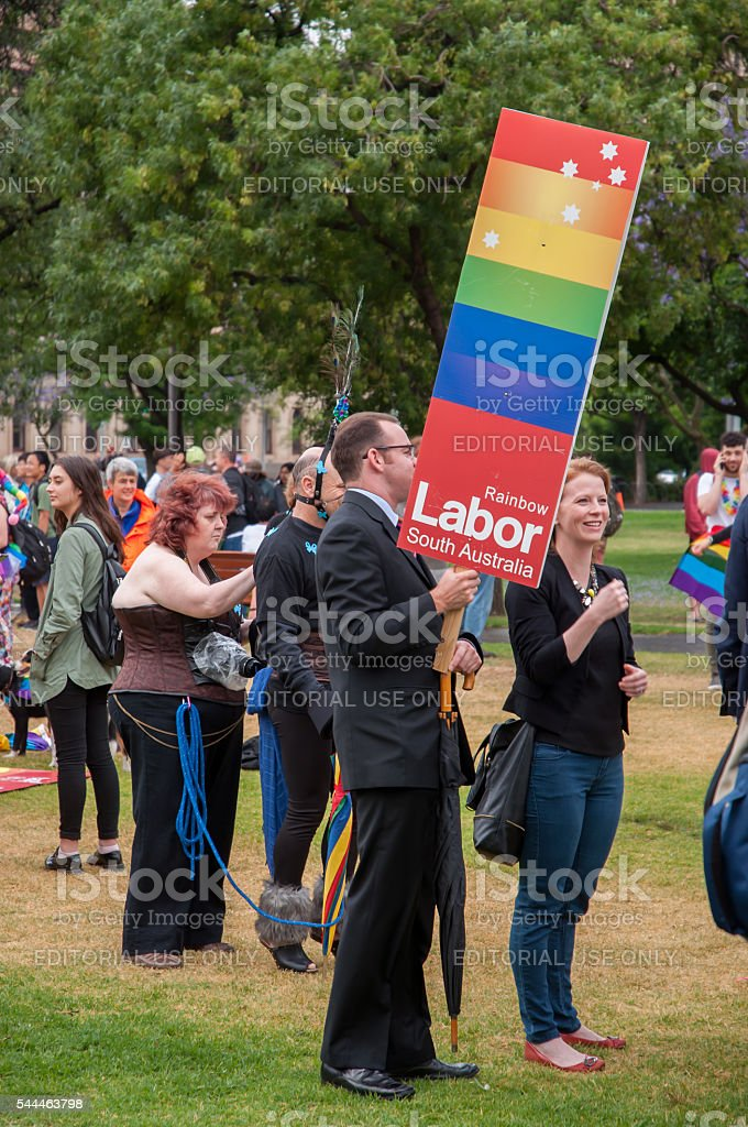 Adelaide Feast Pride March stock photo