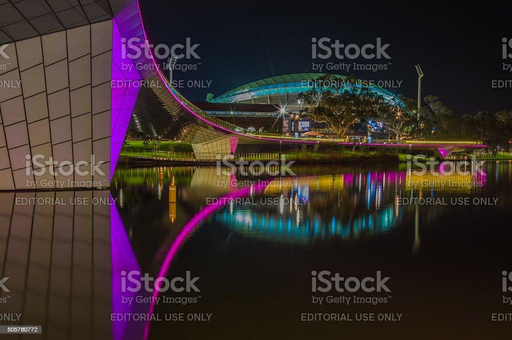 Adelaide Night 16 stock photo