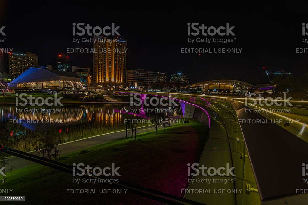 Adelaide Night 17 stock photo