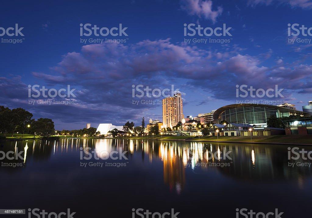 Adelaide Night stock photo