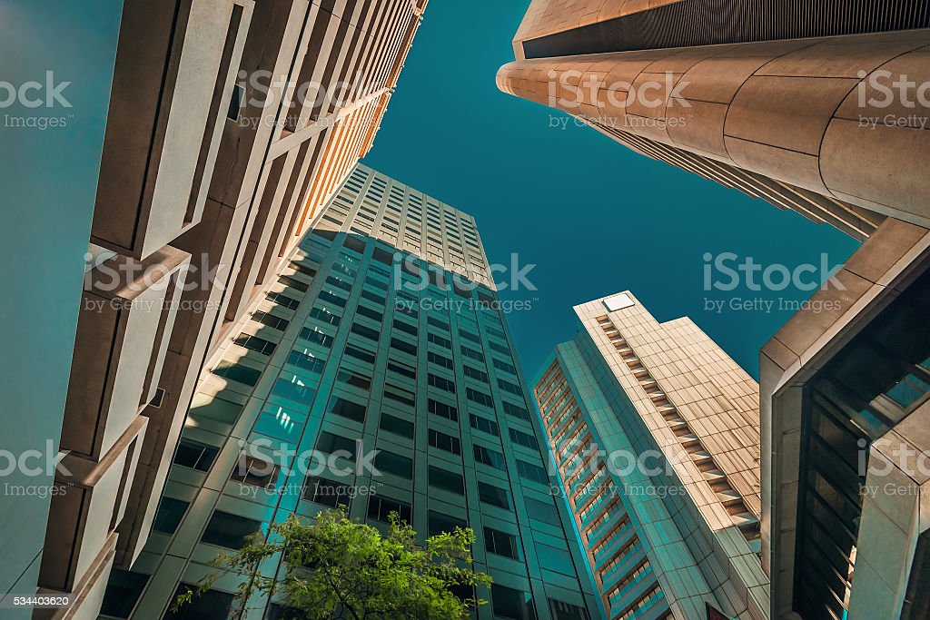 Adelaide office buildings in CBD stock photo