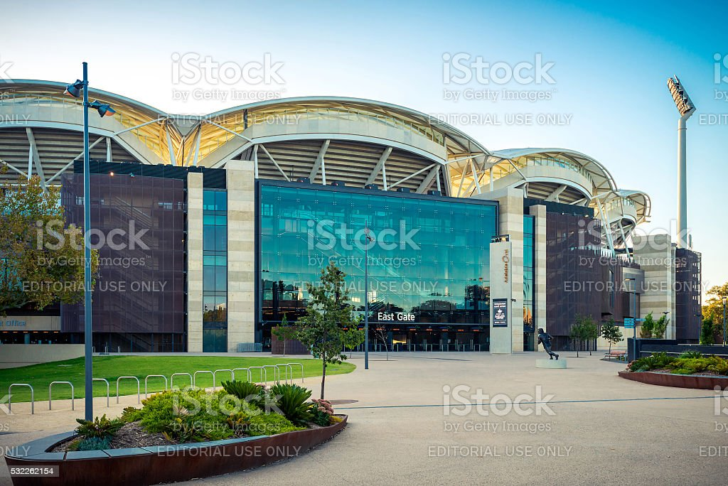 Adelaide Oval in the city, South Australia stock photo