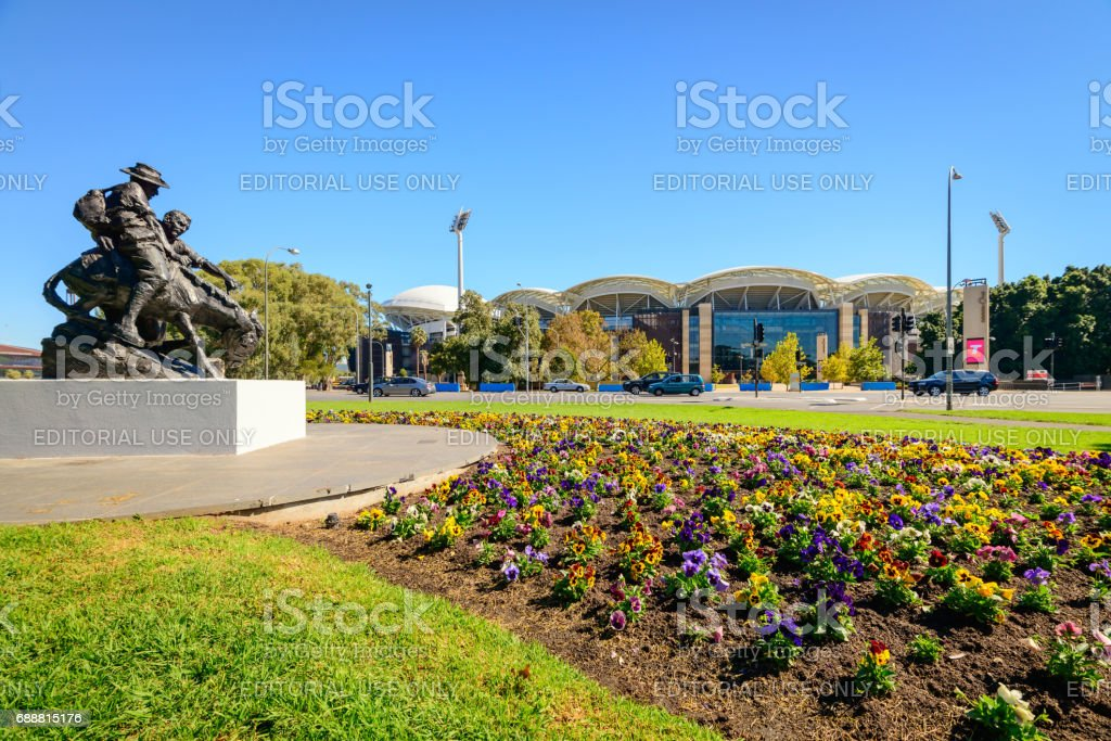 Adelaide Oval stadium stock photo