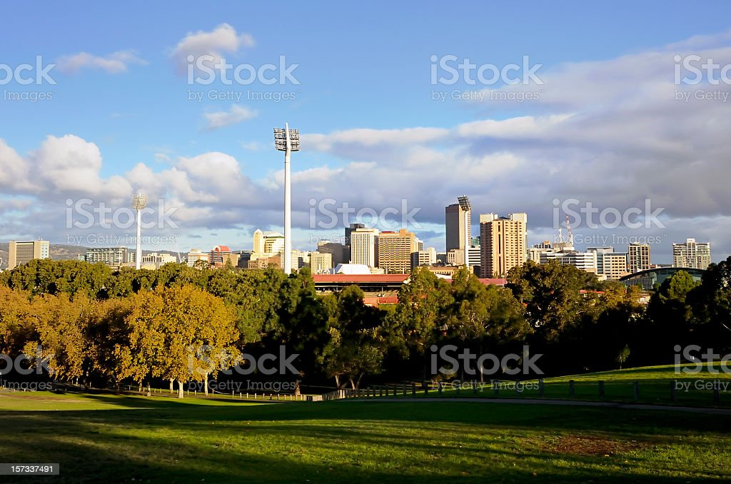 Adelaide Skyline stock photo