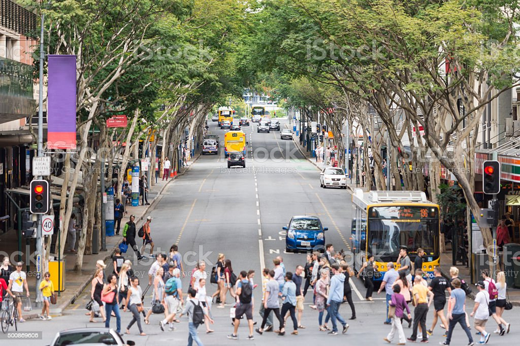 Adelaide Street in Brisbane stock photo